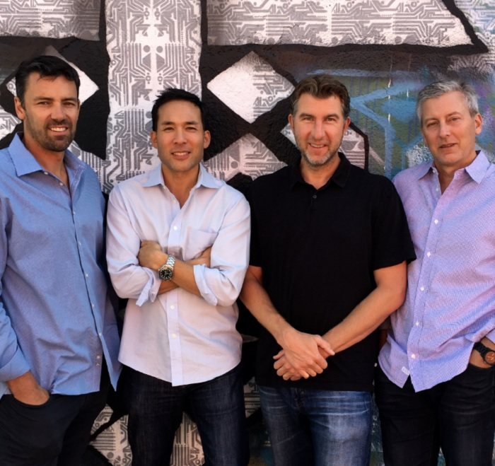 CrossCut Ventures: Brian Garrett, Clinton Foy, Brett Brewer, and Rick Smith.