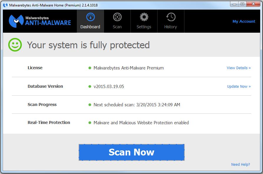 how to decline malwarebytes premium offer