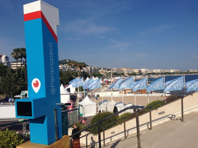 The Periscope team was in Cannes with a real Periscope that you could use with your smartphone to Periscope. Get it?