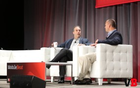 Chegg CEO Dan Rosensweig and GSV Asset Management cofounder Michael Moe at MobileBeat 2015