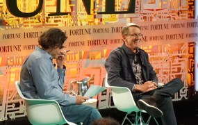 Kleiner Perkins partner John Doerr, speaking onstage with Fortune's Dan Primack at Fortune Brainstorm Tech.