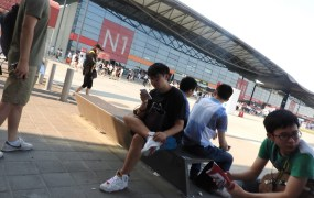 ChinaJoy draws 250,000 visitors to the hot and muggy Shanghai expo center.