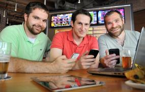 The founders of DraftKings, one of many real-money gaming sites on the Web.