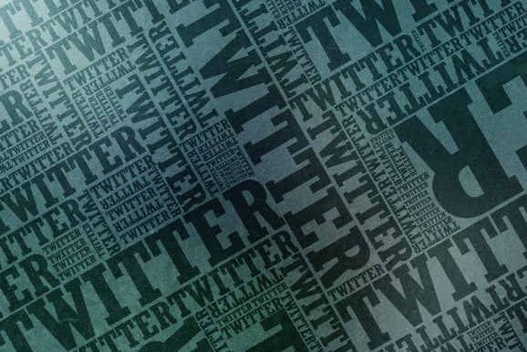 Twitter typographic wallpaper