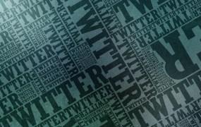 Twitter typographic wallpaper