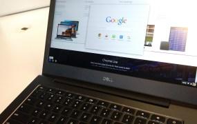 A Dell Chromebook 13.