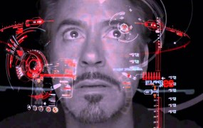 Character Tony Stark interacts with his suit via eye-tracking in Paramount's Iron Man movie.
