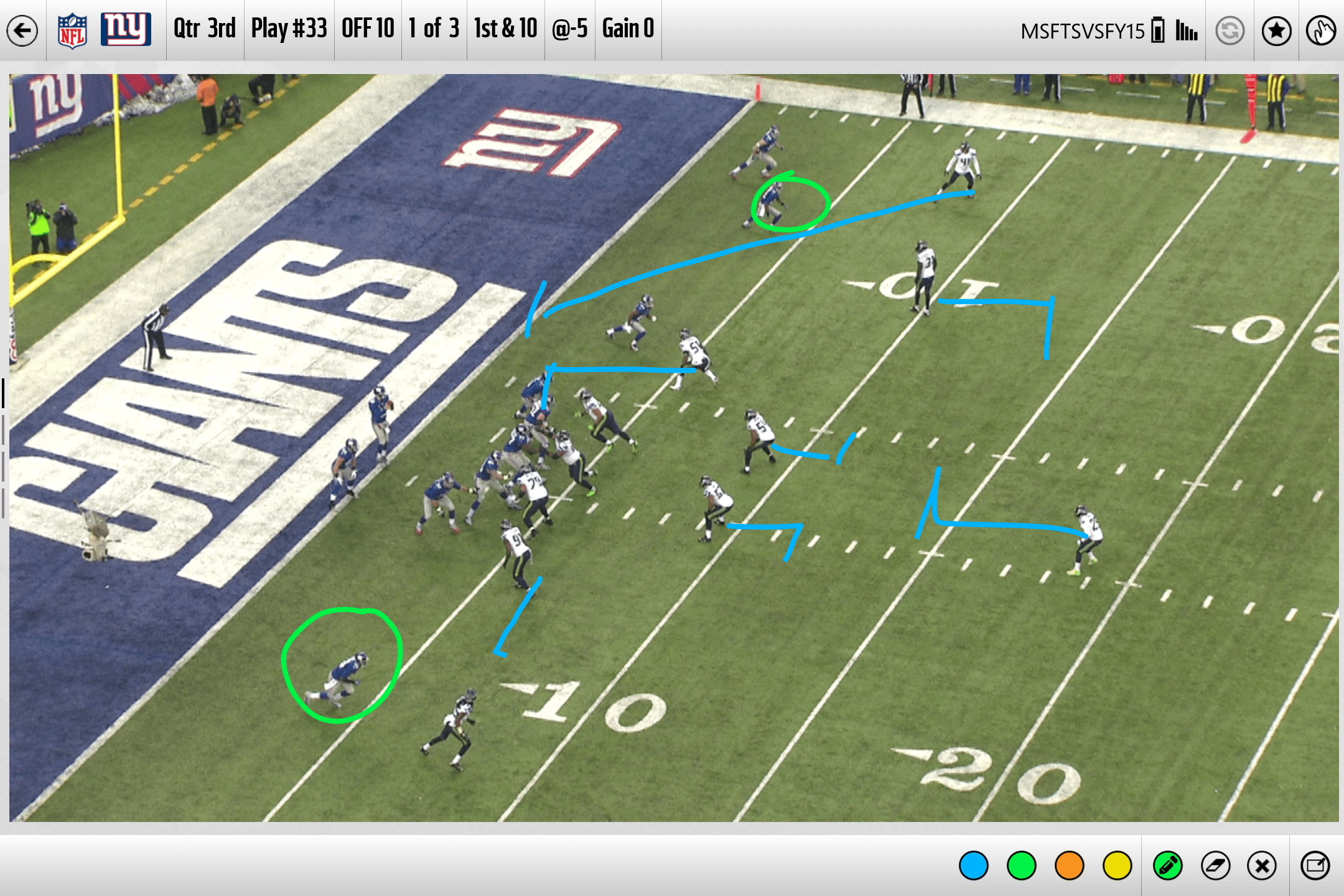 The Sideline Viewing System for NFL teams on the Surface Pro 3.