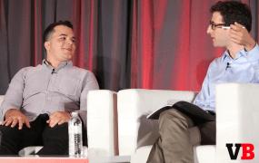 Meerkat CEO Ben Rubin with VentureBeat writer Jordan Novet at GrowthBeat 2015
