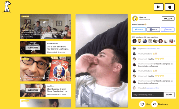 Meerkat has introduced polls for viewers on iOS and Android.