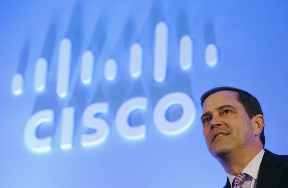 Chuck Robbins, incoming CEO of Cisco, listens a question from media during a news conference in New Delhi, India, June 18, 2015.
