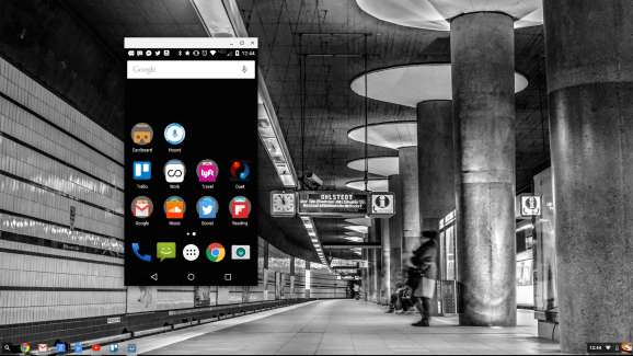 Vysor's Chrome app allows me to use my Moto X on my Toshiba Chromebook 2.