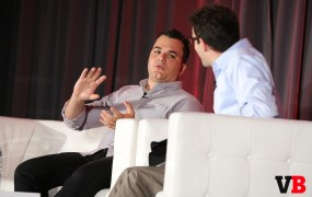 Meerkat CEO Ben Rubin with VentureBeat's Jordan Novet at GrowthBeat 2015