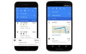 Google Maps deep-links to Uber.