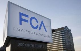 A  Fiat Chrysler Automobiles sign is pictured after being unveiled at Chrysler Group World Headquarters in Auburn Hills, Michigan on May 6, 2014.   REUTERS/Rebecca Cook