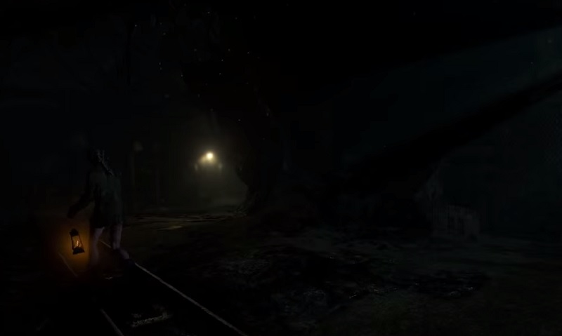Jessica wanders the mine in Until Dawn.