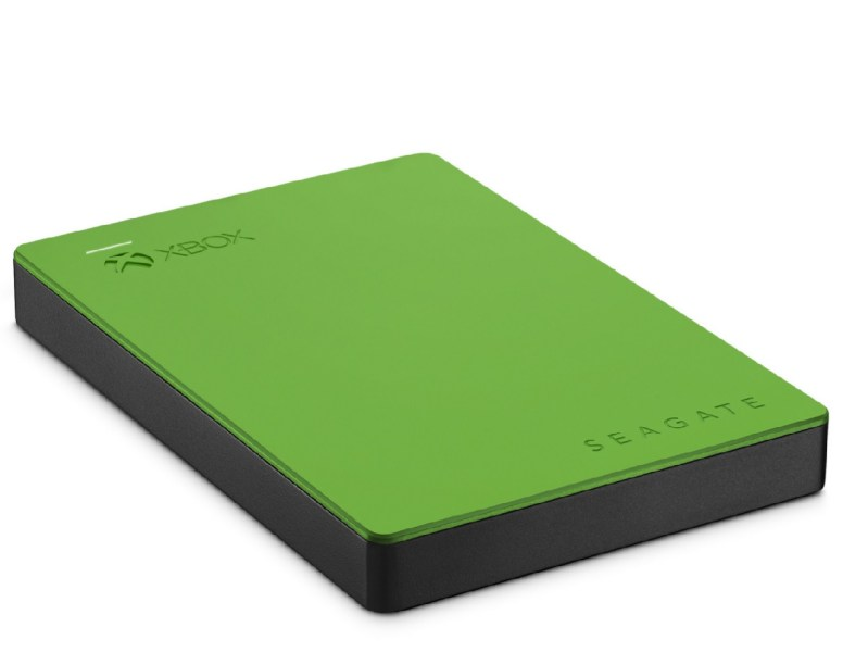Close-up of Seagate's 2-terabyte hard drive for Xbox One and Xbox 360