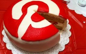 Pinterest-shaped birthday cake