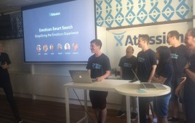 At Atlassian headquarters in Sydney.