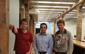 From left, Dremio's Jacques Nadeau, Tomer Shiran, and Julien Le Dem.