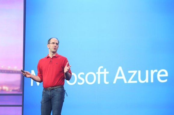 Scott Guthrie, executive vice president for Microsoft's Cloud and Enterprise group, speaks at Microsoft's 2014 Build conference in San Francisco.