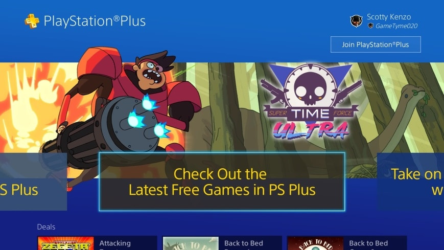 PS Plus section