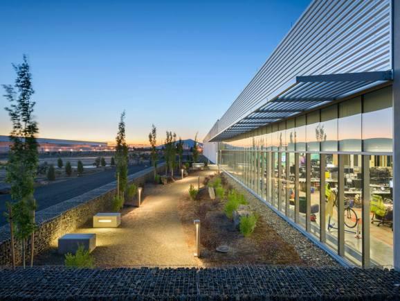 Facebook's initial data center building in Prineville, Oregon.