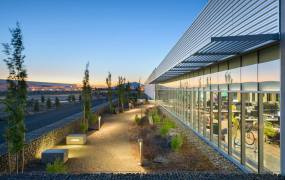 Facebook's initial data center building in Prineville, Oregon.