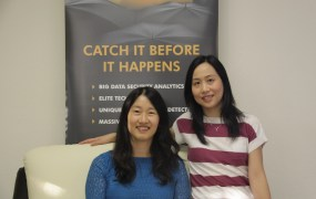 DataVisor cofounders Fang Yu, left, and Yinglian Xie.