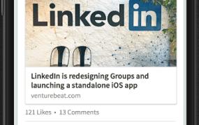 LinkedIn Voyager, the new version of LinkedIn's flagship mobile app.