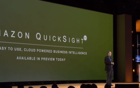 Amazon Web Services introduces Amazon QuickSight service at the AWS re:Invent conference in Las Vegas on Oct. 7.