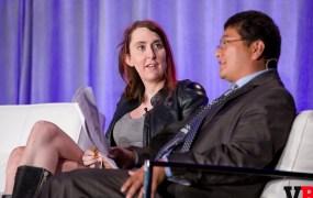 Brianna Wu speaks with Dean Takahashi at GamesBeat 2015.
