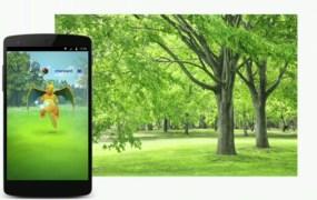 Pokémon Go game screen