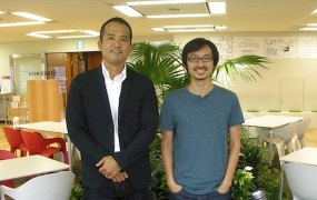 From the left: Beenext managing partner Teruhide Sato, partner Hiro Maeda
