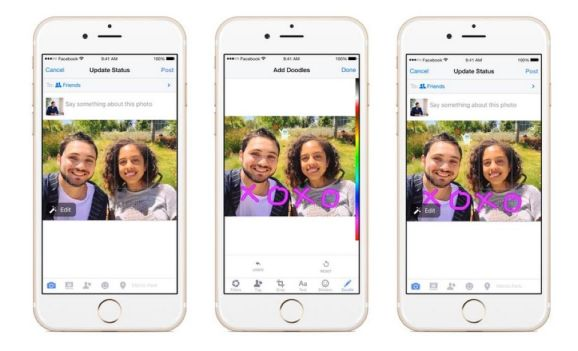 Facebook now lets you doodle on photos