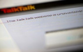 A computer screen shows details of TalkTalk's login page on its web site in London, Britain, October 26, 2015.