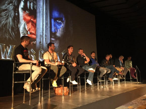 Warcraft movie panel BlizzCon