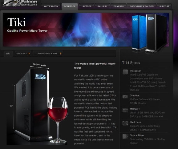 Falcon Northwest's Tiki was originally supposed to have a SteamOS version.