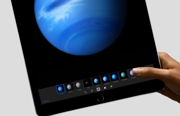 Apple's new iPad Pro is a gas giant, the company's photos suggest.