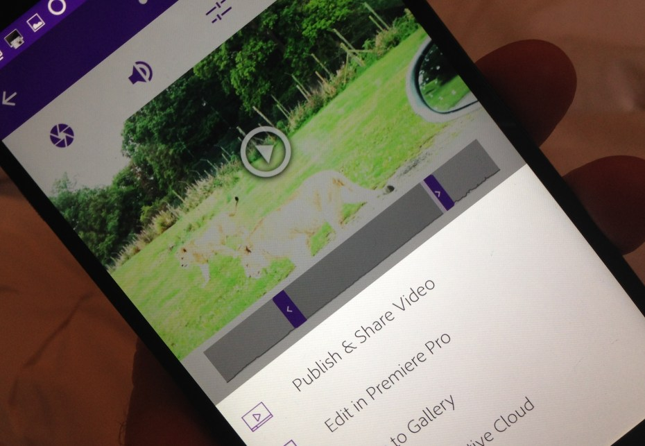 adobe video editing app