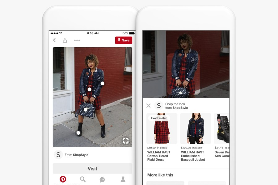 Pinterest launches Lens Your Look fashion search feature and visual scan codes