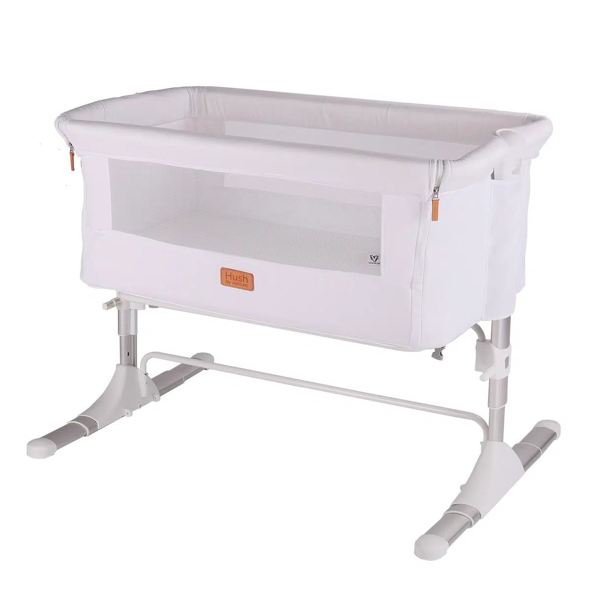 Baby Cradle Dimensions Hush Bedside Baby Crib Co Sleeper White
