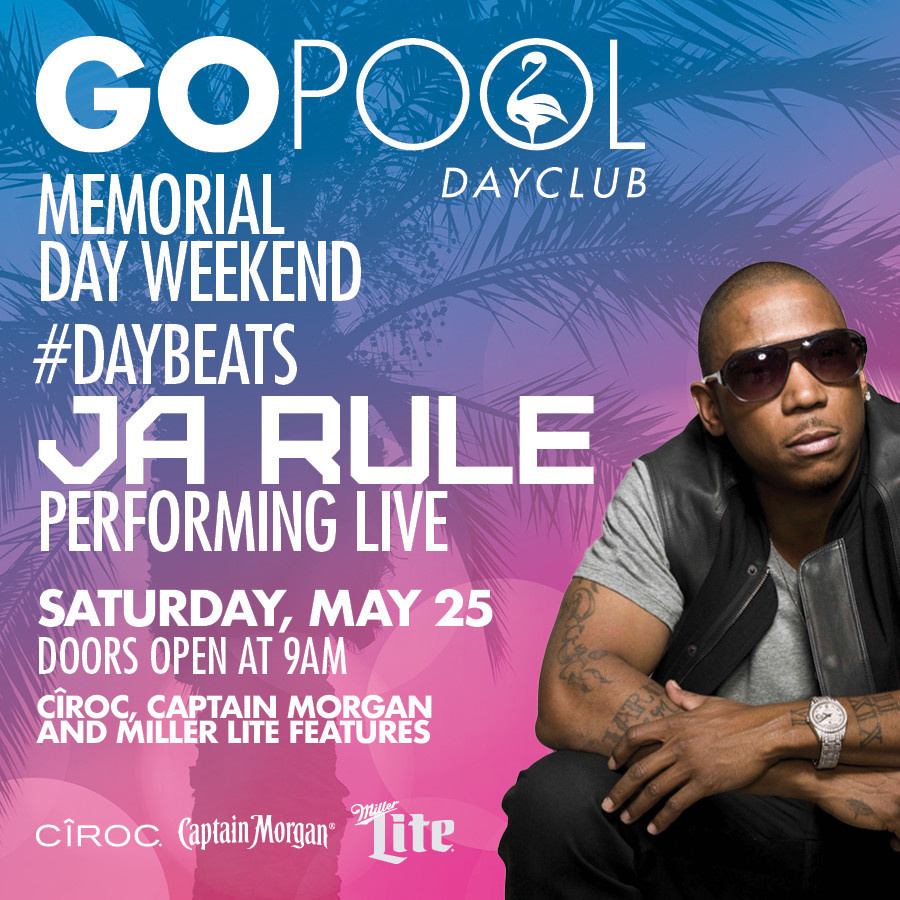 Flamingo Pool Vegas Rules Daybeats Featuring Ja Rule Performing Live Event Go Pool