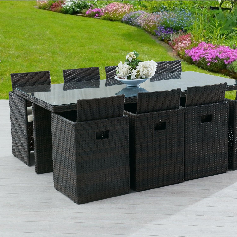 Table Et Chaise Jardin Resine Tressee Veranda Styledevie Fr