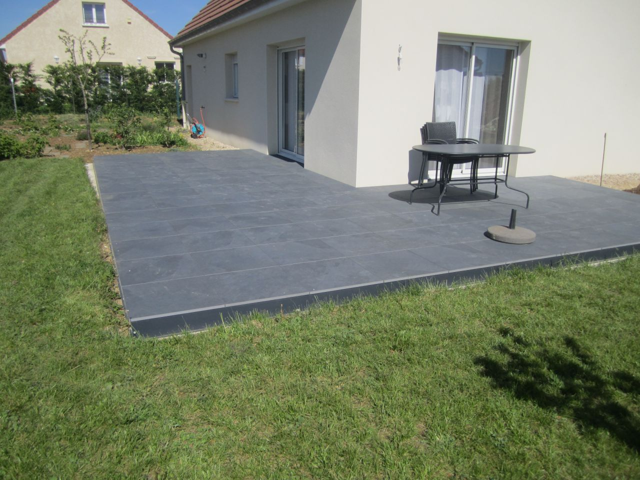 Terrasse En Travertin Avis Dalle Sur Plot Tarif Veranda Styledevie Fr