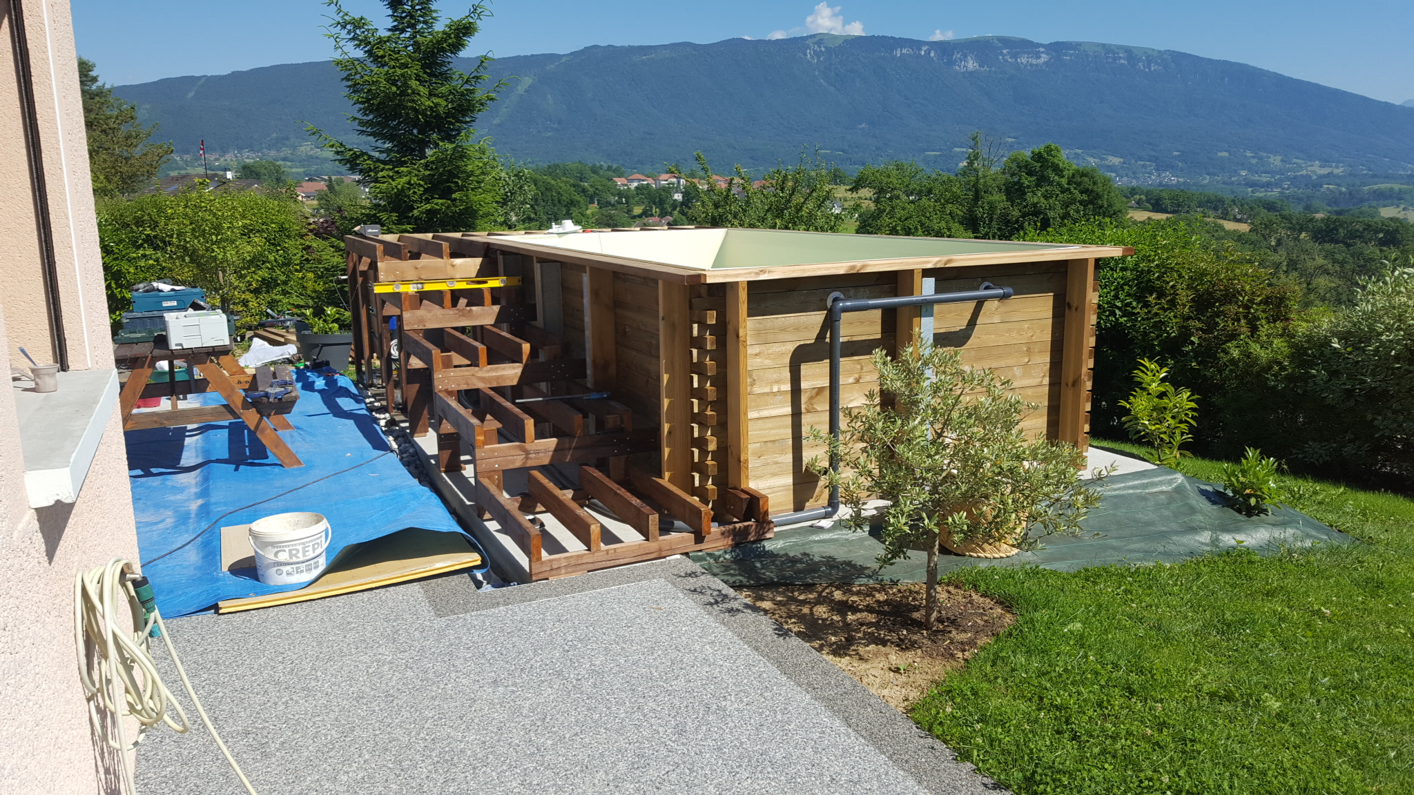 Spa Exterieur Vercors Mini Piscine En Contruction Vercors Piscine