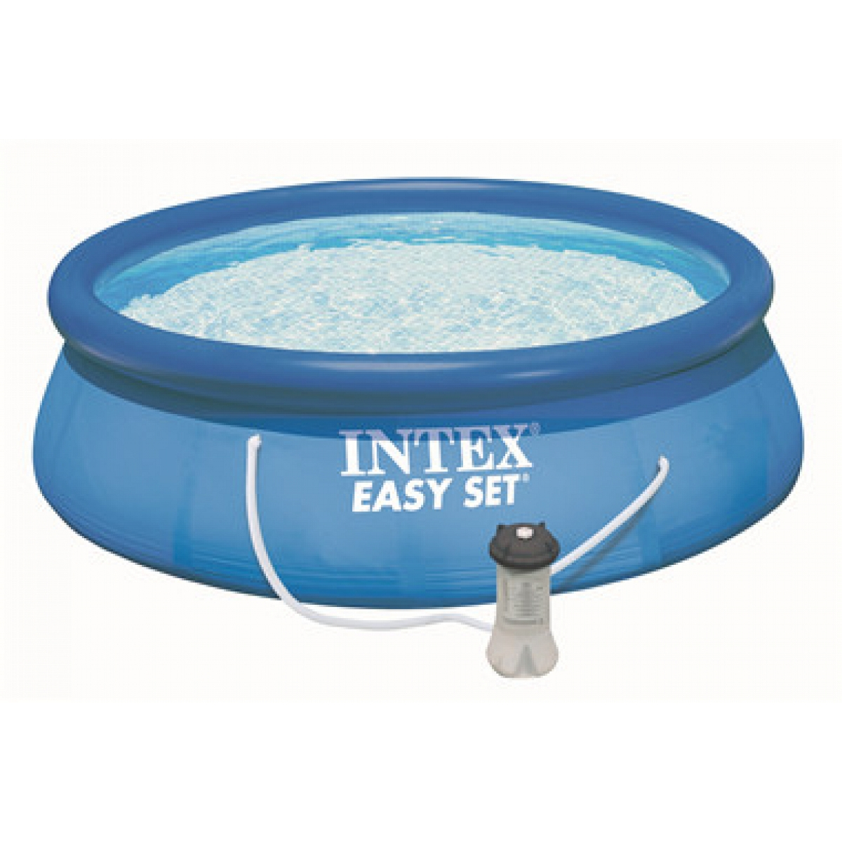 Pool Reinigungsset Pumpe Gartenpool Rund Intex Mod Easy Set 305x76 Intex Piscine