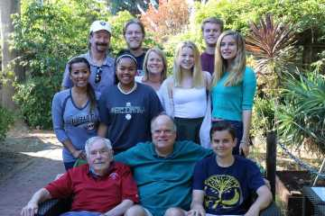 The Swezey family comes together for a family barbeque on labor day. Top row from left: Matthew Fogarty, Drake Swezey, Kirk Swezey. Middle row from left: Sophie Swezey, Michaela Fogarty, Megan Fogarty, Dhesya Swezey, Weinda Swezey. Bottom row from left: Kyle Swezey, Rory Swezey, Lawrence Swezey. Photo by Sophie Nakai.