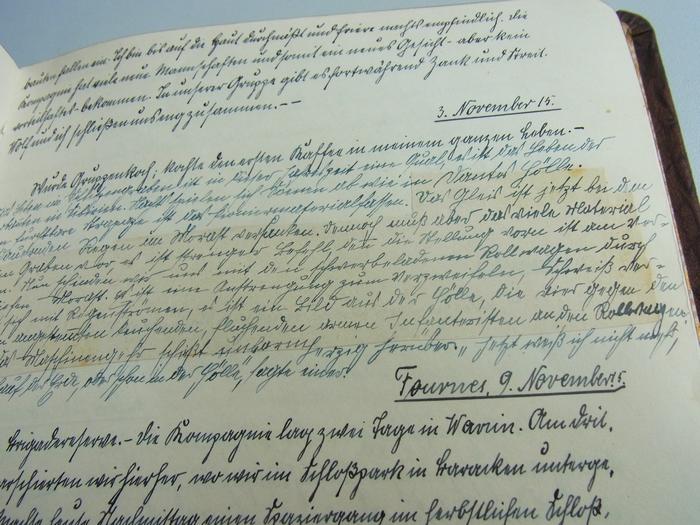 Kriegstagebuch, in der Handschrift von Pankraz G. und der seiner Freundin Lotte