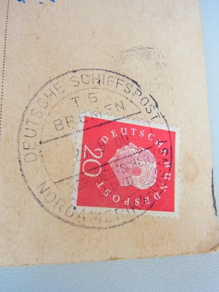 Schiffspost-Stempel: Deutsche Schiffspost TS Bremen, Nordamerika-Dienst, Norddeutscher Lloyd